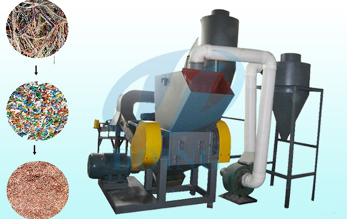 Copper and wire recycling machine for copper