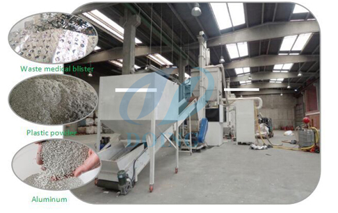 aluminum plastic recycling machine