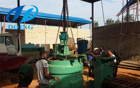 palm oil extraction machine installation site