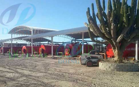 Mexico 10 set waste tyre recycling process pyrolysis plant was processing waste ...