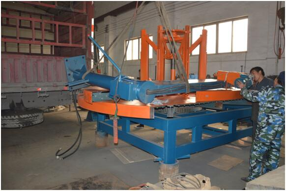 OTR tire cutting machine