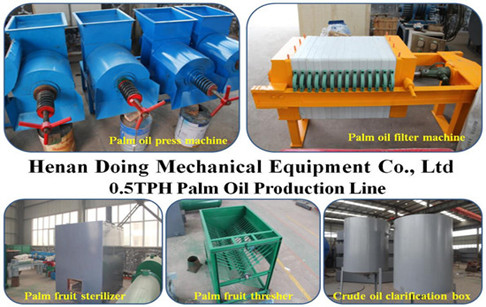 0.5TPH mini palm oil mill plant