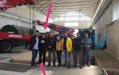 Waste tyre pyrolysis plant installation in Italy