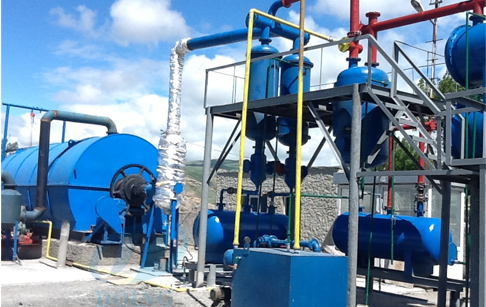 10T waste tyre pyrolysis plant installed in Georgia
