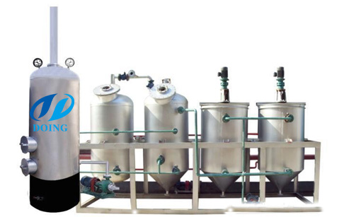 How does cooking oil refining machine work?