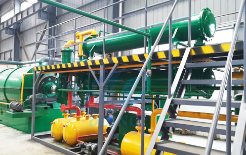 Tyre recycling process pyrolysis plant