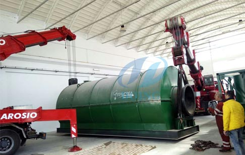 Italy waste tire recycling pyrolysis plant successful installed