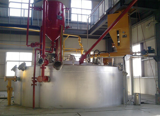 The extractor of sunflower oil making machine