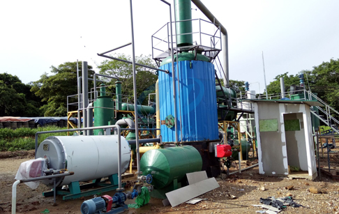 How does waste oil distillation plant work?