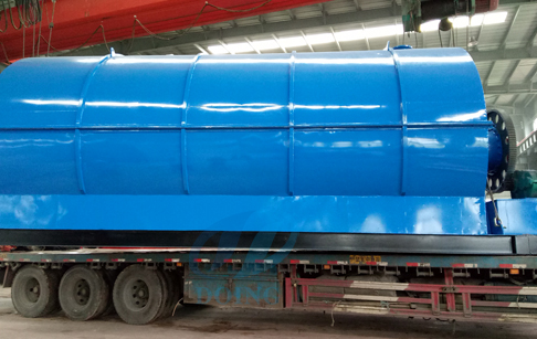 12T waste tyre to fuel oil pyrolysis plant delivered to Czech