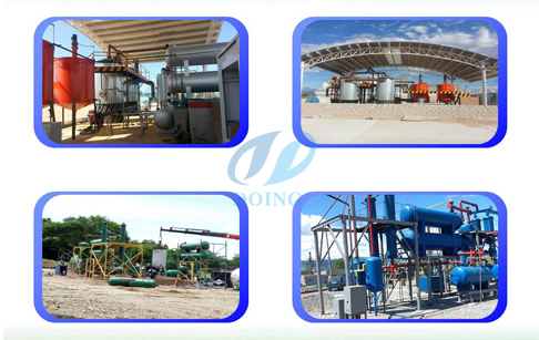 tyre oil refining plant