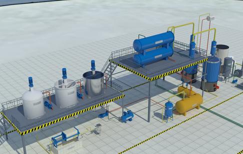 Pyrolysis oil distillation plant_Waste Oil to Diesel Plant