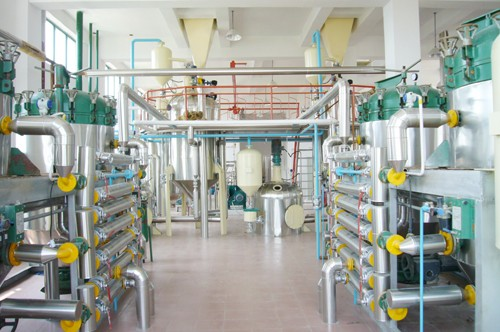 refinery workshop of rice bran oil plant