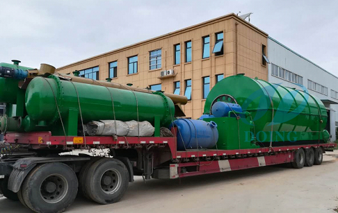 10T/D waste tyre to fuel oil pyrolysis plant delivered to Yunnan