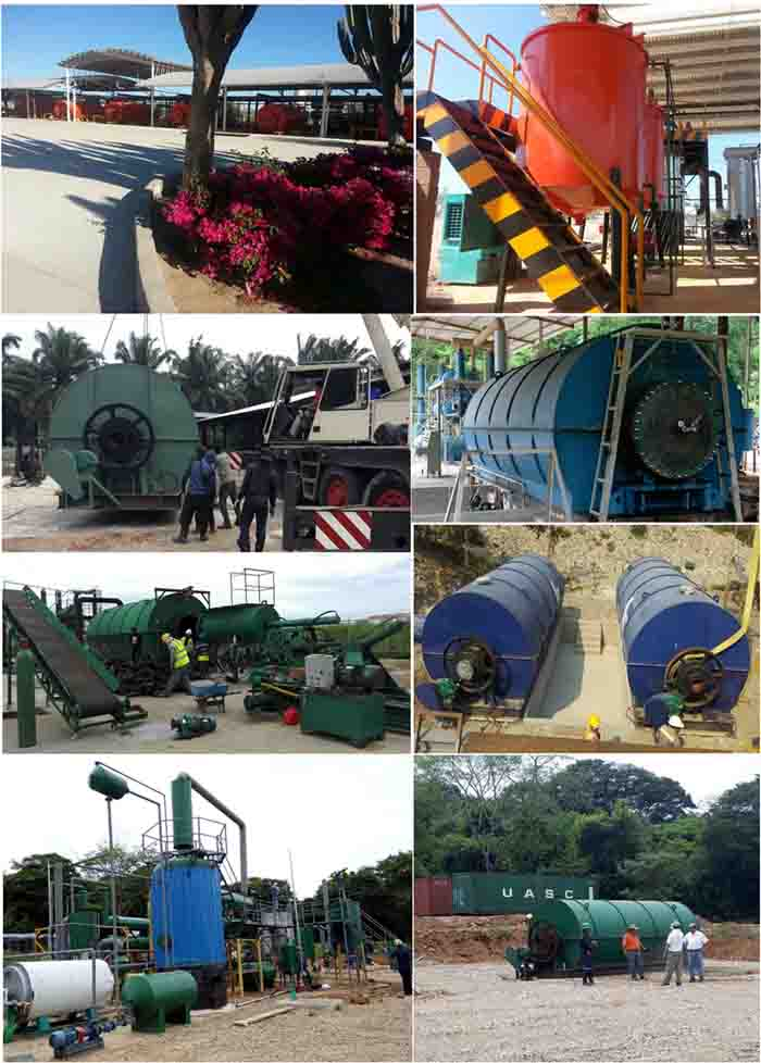 used tire recycling plant