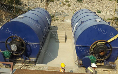 Waste tyre to fuel oil pyrolysis plant