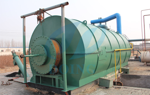 Waste tyre recycling to fuel oil machine