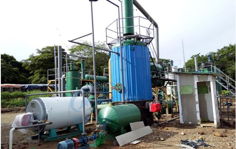 tyre oil distillation process