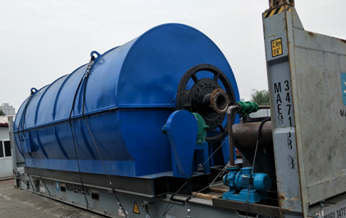 10ton capacity waste tire pyrolysis plant for Ukraine customer has successful de...