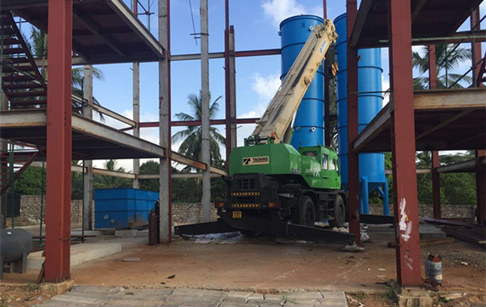 100tpd palm oil refinery and fractionation plant project is installing in Kenya