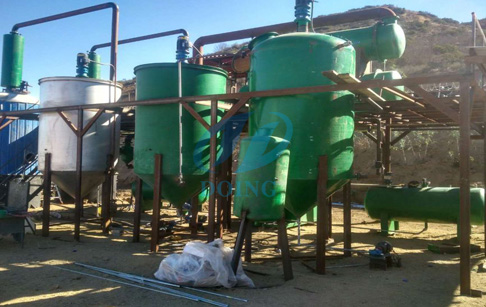 Tijuana, Mexico 10 tons waste oil to diesel plant successfully installed
