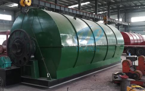 The waste tire pyrolysis plant will delivery to Panama