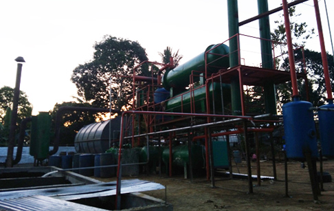 10T/D waste tyre pyrolysis plant in Philippines