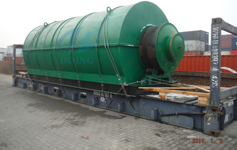 10T/D plastic pyrolysis plant for Indian customer finished delivery