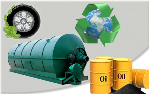 Pyrolysis plant recycaling waste tire to oil