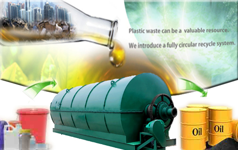 Pyrolysis plant  for waste plastic recycling