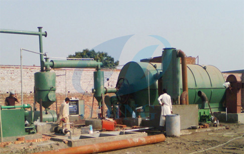 recycling scrap plastic to oil by pyrolysis plant