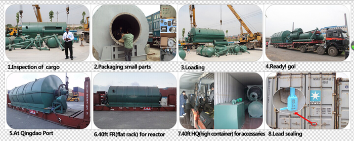 10t scrap plastic pyrolysis plant for sale on dilivery