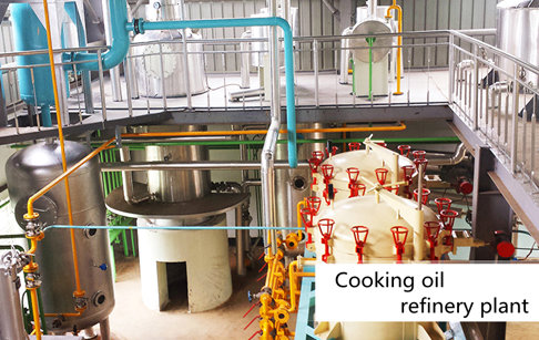 100-500tpd cooking oil refinery equipment