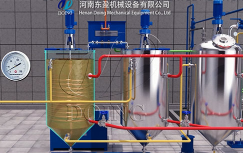 1-10tpd vegetable oil refinery plant supplier