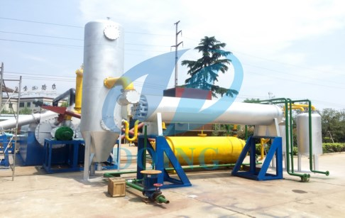 Continuous used tire process pyrolysis equipment