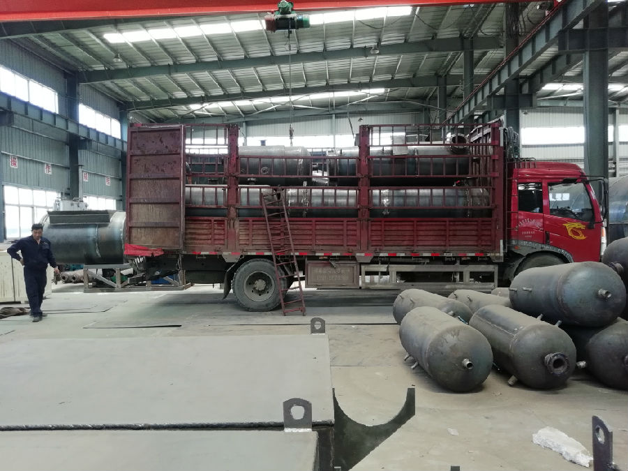 10T/D waste tire pyrolysis plant delivered to Bengbu City, Anhui