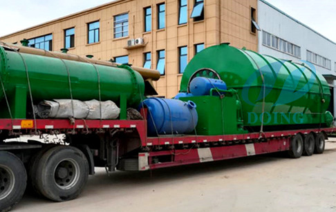 2 sets 12T/D waste tire to fuel oil pyrolysis plant were delivered to Hunan