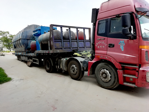 The second batch of two sets 12T/D waste tire pyrolysis plants delivered to Huna...