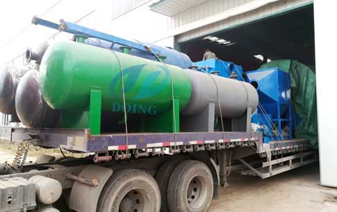 The second set 12 T/D waste tyre pyrolysis plant sent to Inner Mongolia, China