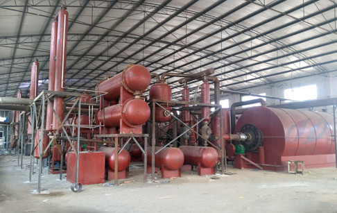 Chongqing 4 sets 12T/D scrap tyre pyrolysis plants successfully installed