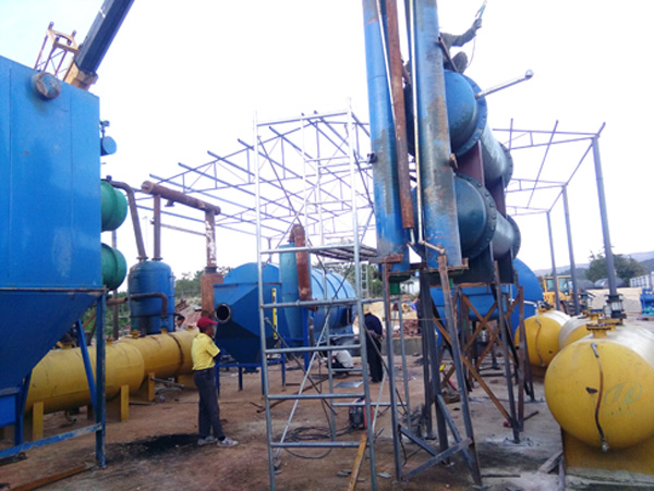 second installation of 2 sets used tyre pyrolysis plants for yunnan customer