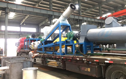 The first 20T/D continuous waste plastic pyrolysis plant shipped to Spain on Aug...