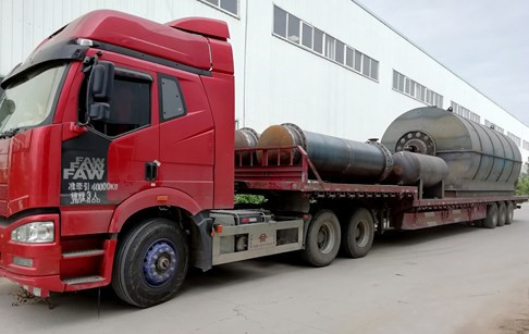 2 sets 10 T/D pyrolysis tyre recycling plants delivery to Yunnan