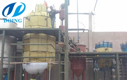 20tpd crude olive oil refinery plant project in Peru