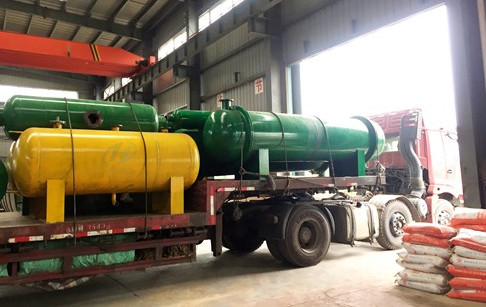 12T/D tyre recycling pyrolysis plant delivered to Nigerian customer
