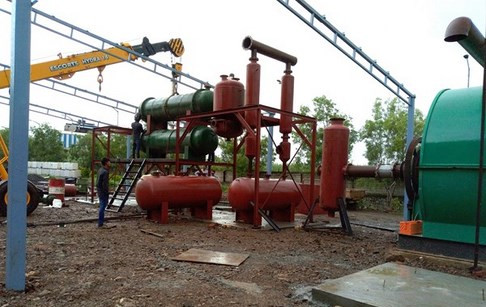 Installation of plastic pyrolysis plant in India is completed