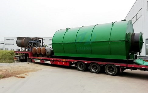 2 sets of tyre to fuel recycling plants successfully delivered to Jiangsu, China
