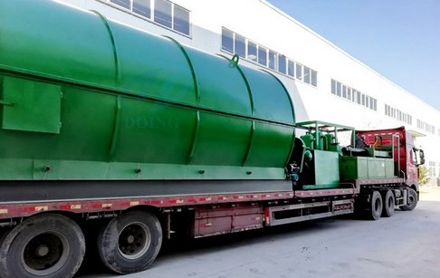 Waste tyre pyrolysis plant delivery to India