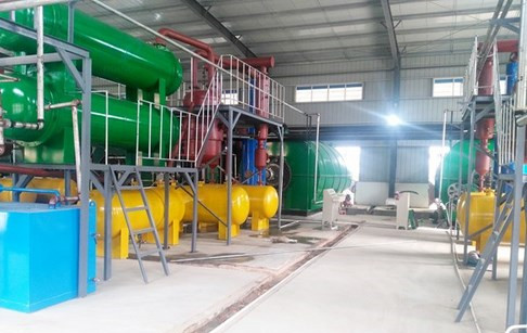 4 sets used tyre pyrolysis plants successfully installed in Hubei, China