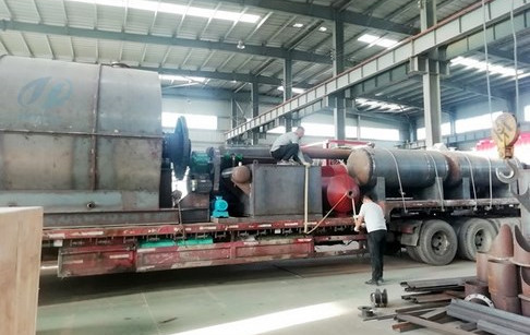 Waste tire to fuel oil pyrolysis plant delivered to Hebei, China